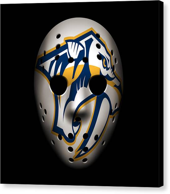 Nashville Predators Canvas Print - Predators Goalie Mask by Joe Hamilton