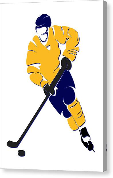 Nashville Predators Canvas Print - Predators Shadow Player by Joe Hamilton