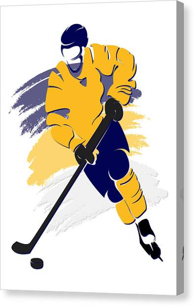 Nashville Predators Canvas Print - Predators Shadow Player2 by Joe Hamilton