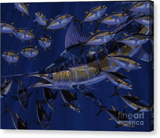 Yamaha Canvas Print - Premonition Off0063 by Carey Chen