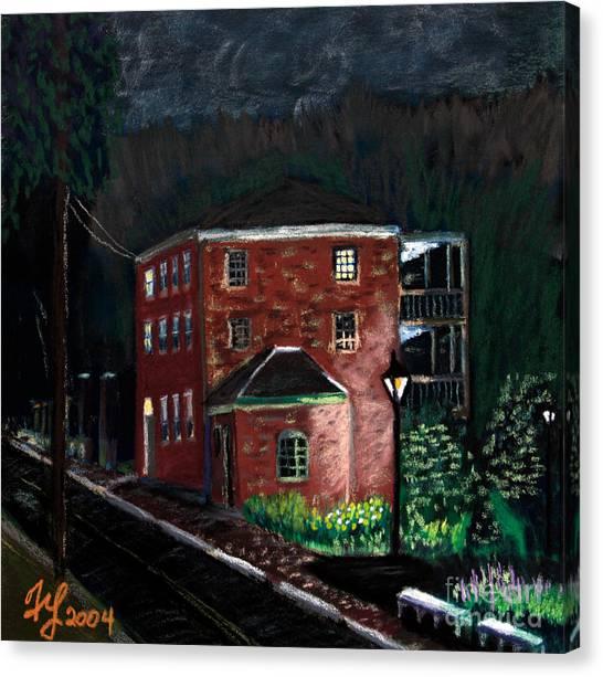 Prescott Park At Night Canvas Print