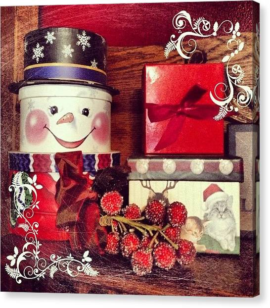 Presents Canvas Print - Presents! Oh Joy! #christmas #holiday by Teresa Mucha