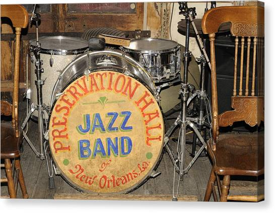 Preservation Hall Jazz Band Drum Canvas Print
