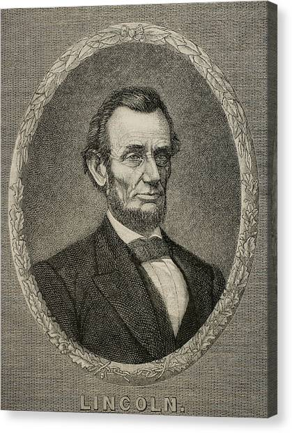 Republican Politicians Canvas Print - President Abraham Lincoln by American School