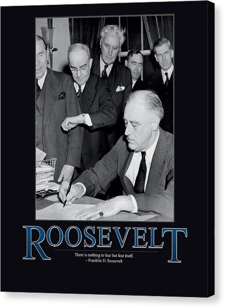 Franklin D. Roosevelt Canvas Print - President Franklin D. Roosevelt by Retro Images Archive