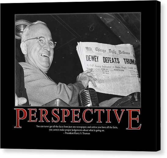 Harry Truman Canvas Print - President Harry S. Truman Perspective  by Retro Images Archive