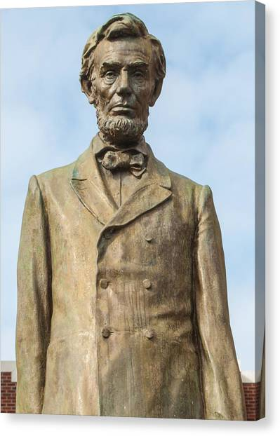 President Lincoln Statue Canvas Print