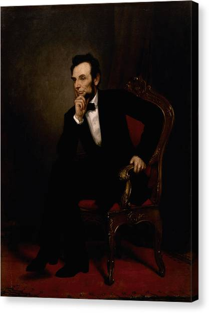 President Canvas Print - President Lincoln  by War Is Hell Store