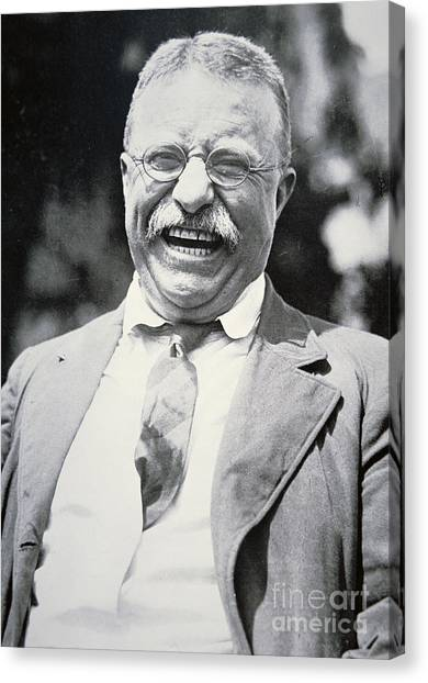 Theodore Roosevelt Canvas Print - President Theodore Roosevelt by American Photographer