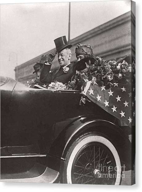 President Woodrow Wilson 1919 Canvas Print by Martin Konopacki Restoration