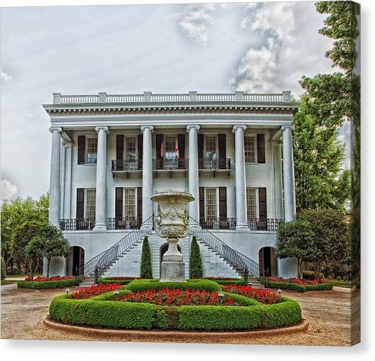 Conference Usa Canvas Print - President's Mansion - University Of Alabama by Mountain Dreams