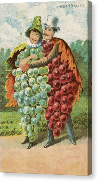 Vegetable Garden Canvas Print - Pressed Grapes by Aged Pixel