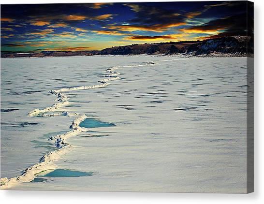 Pressure Ridge On Lake Sakakawea Canvas Print