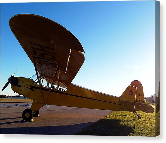 Preston Aviation Piper Cub 003 Canvas Print