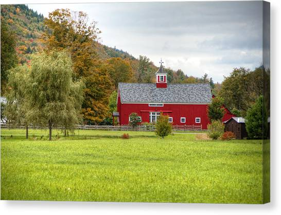 Prettiest Barn In Vermont Canvas Print