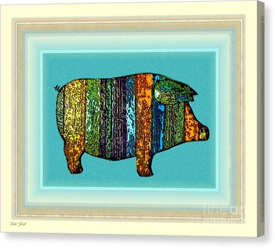 Pretty As A Pig-ture Canvas Print