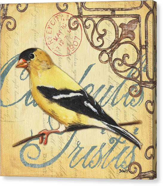 Postcards Canvas Print - Pretty Bird 3 by Debbie DeWitt