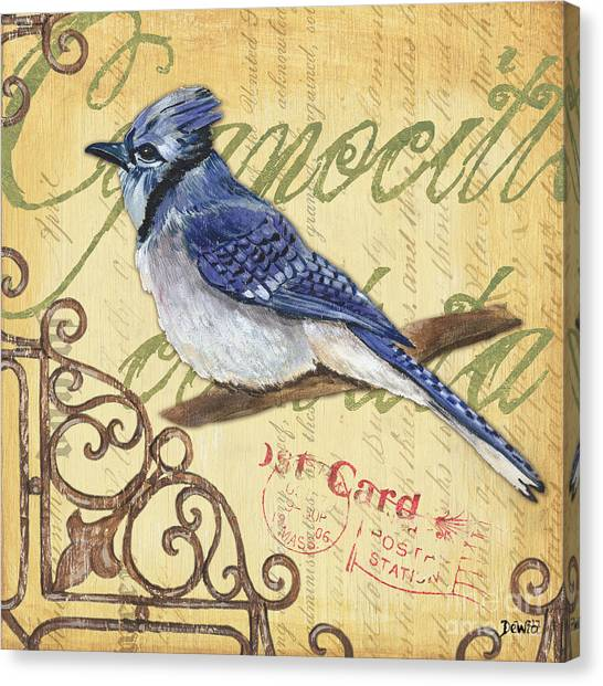 Postcards Canvas Print - Pretty Bird 4 by Debbie DeWitt