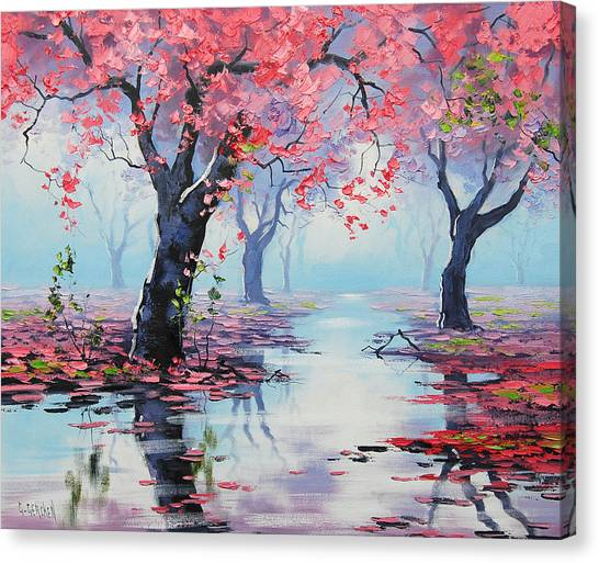 Spring Trees Canvas Print - Pretty In Pink by Graham Gercken