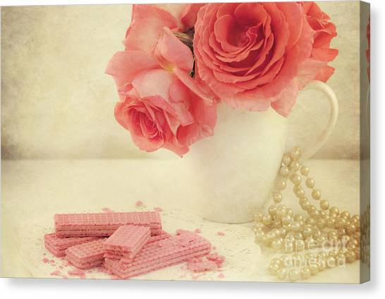 Wafer Canvas Print - Pretty In Pink by Juli Scalzi