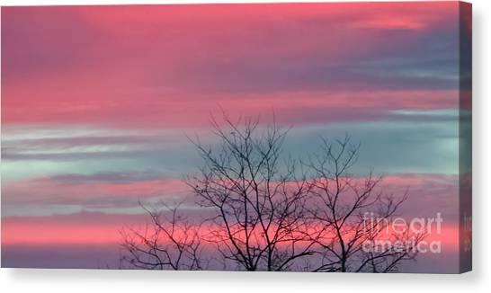 Pretty In Pink Sunrise Canvas Print