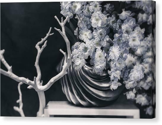 Flutes Canvas Print - Pretty Pansy Still Life by Tom Mc Nemar