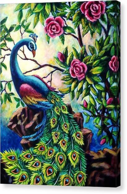 Pretty Peacock Canvas Print