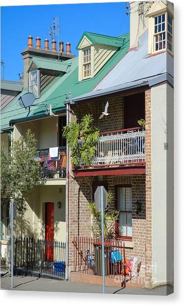 Pretty Terrace Houses In Sydney - Australia Canvas Print