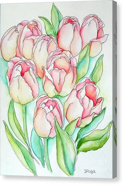 Pretty Tulips Canvas Print
