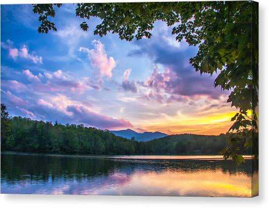 Price Lake Sunset Canvas Print