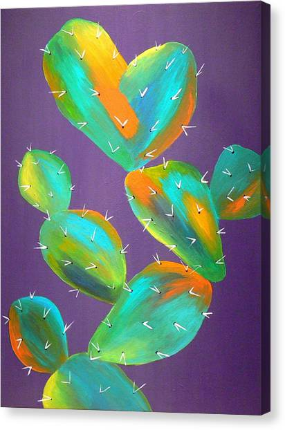 Prickly Pear Abstract Canvas Print