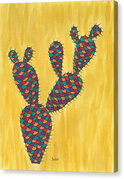 Prickly Pear Cactus Paradise Canvas Print