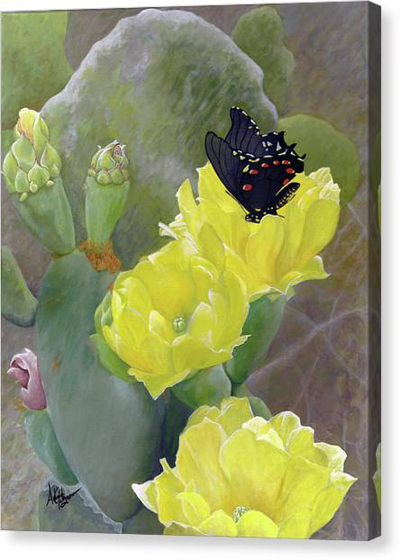 Prickly Pear Flower Canvas Print