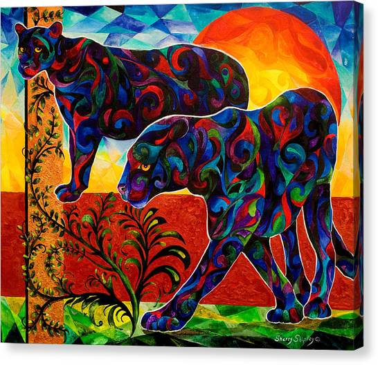 Primal Dance Canvas Print
