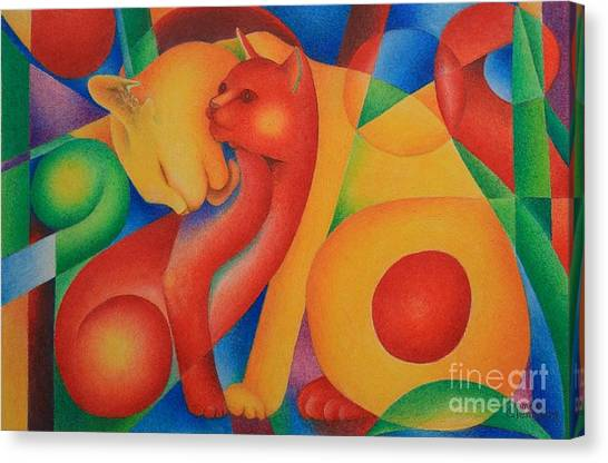 Primary Cats Canvas Print