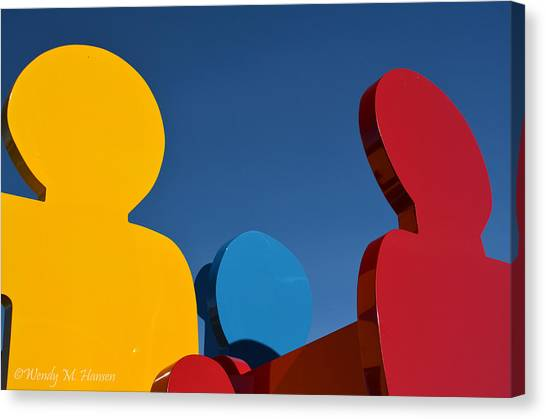 Primary Colors 2 Canvas Print by Wendy Hansen-Penman
