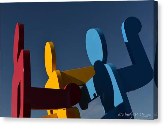 Primary Colors Canvas Print by Wendy Hansen-Penman