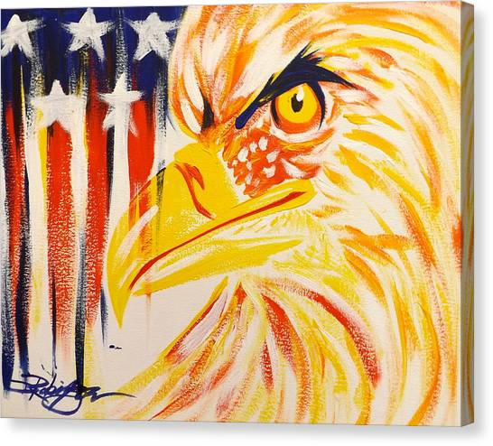 Primary Eagle Canvas Print