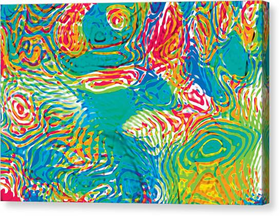 Primary Ripples Tropical Canvas Print