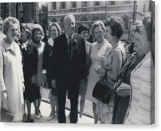 Prime Minister Meets Conservative Women M. P ��s Canvas Print by Retro Images Archive