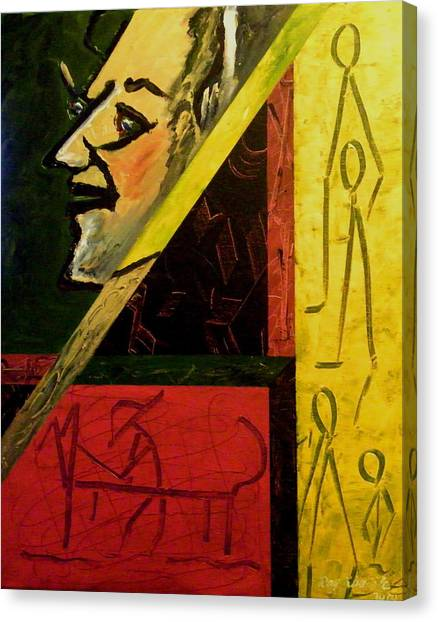 Primitive Art Canvas Print