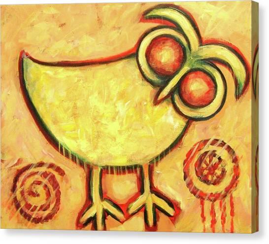 Primitive Owl Canvas Print