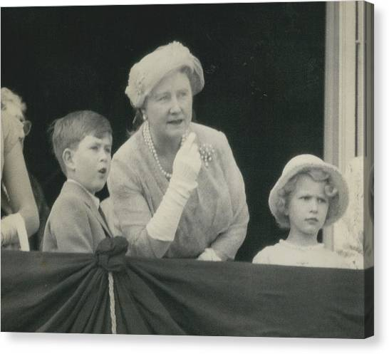 Prince Charles And Princess Anne Look For Their Lither To Canvas Print by Retro Images Archive
