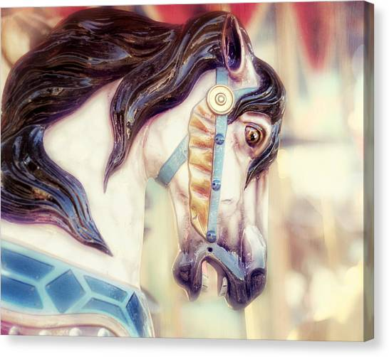 Dreamy Horse Canvas Print - Prince Charming by Amy Tyler