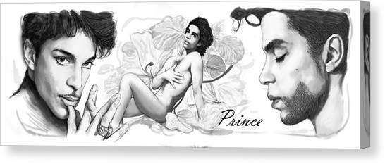 Careers Canvas Print - Prince Drawing Art Sketch Poster by Kim Wang