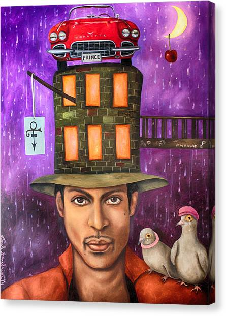 Under The Moon Canvas Print - Prince Edit 2 by Leah Saulnier The Painting Maniac