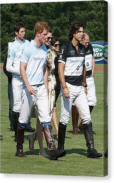 Prince Harry And Nacho Figueras Canvas Print