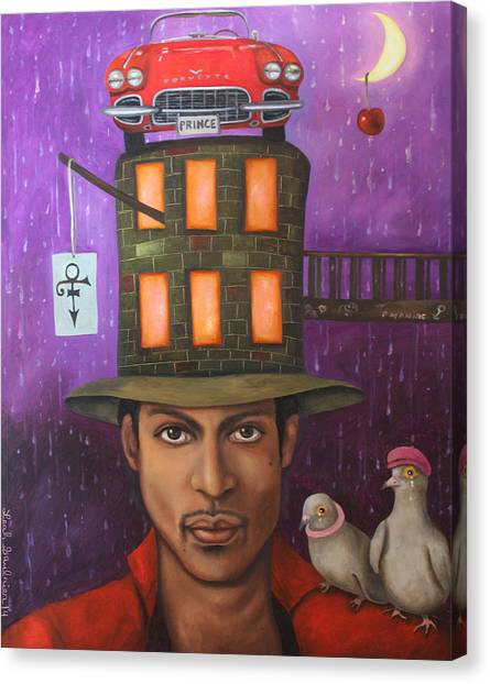 Under The Moon Canvas Print - Prince by Leah Saulnier The Painting Maniac