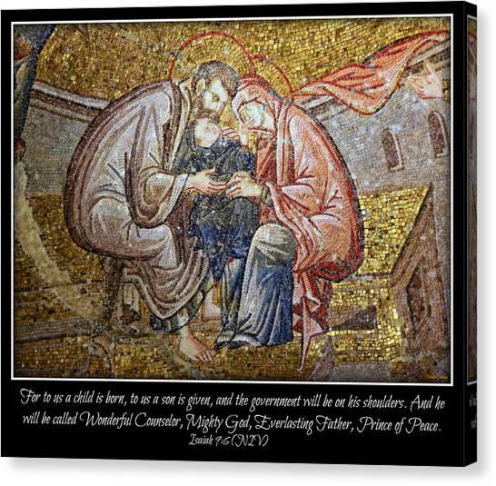 Byzantine Canvas Print - Prince Of Peace by Stephen Stookey