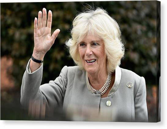 Prince Of Wales And The Duchess Of Cornwall's Irish Trip Day Three Canvas Print by Jeff J Mitchell